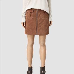 ALL SAINTS Taylor Suede Mini Skirt
